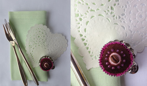 Tischdekoration-rosa-braun