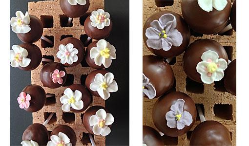 cake-pop-Blumen