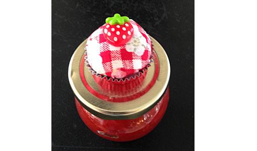 Konfietikette-Erdbeere